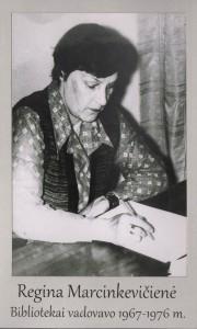 Regina Marcinkevičienė 1967 – 1976 m.