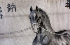 """Odakos šventykla garsėja """"Soma-Nomaoi"""" festivaliu (""""Soma"""" laukinių arklių persekiojimas). Arklio paveikslas šventykloje / Odaka Shrine is famous for the Soma-Nomaoi festival (Soma wild horse chase). Horse picture at Shrine"""