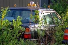 Odakoje paliktas taksi automobilis / Abandoned taxi in Odaka