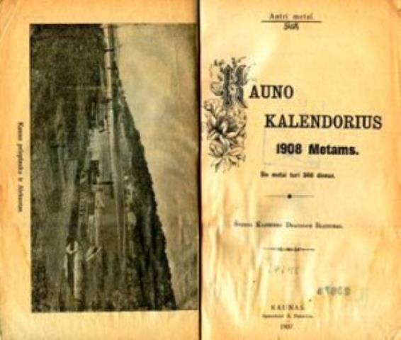 Kauno kalendorius 1908 metams.-