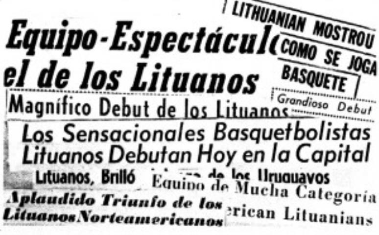 Tokiomis antraštėmis Pietų Amerikos spauda pažymėjo Lietuvių rintlnės debiutą. 1959 m.
