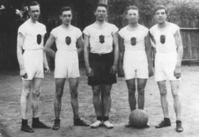 """1925 m. Lietuvos vyrų krepšinio pirmenybių nugalėtoja – Kauno """"Kovo"""" komanda"""