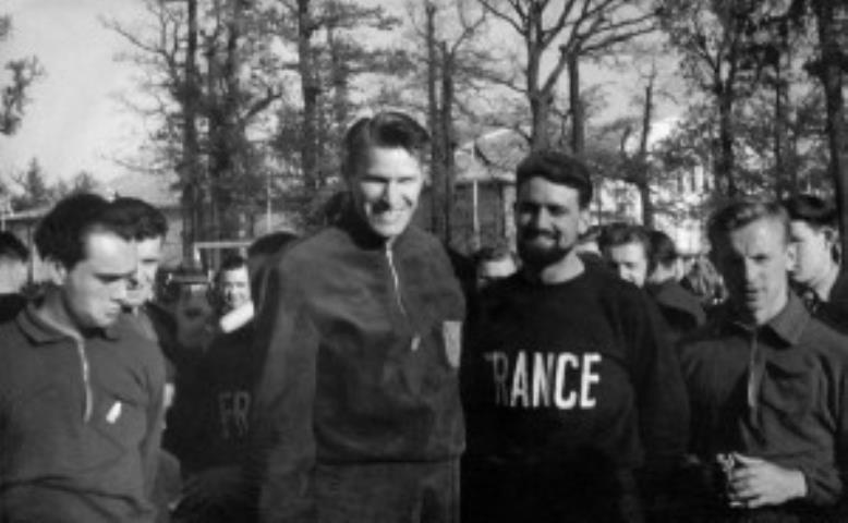 P. Lubinas su Prancūzijos žaidėjais. 1939 m.
