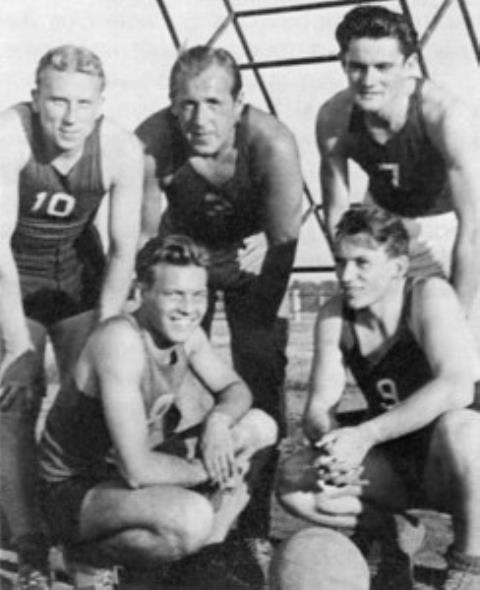 """Augsburgo """"Dainavos"""" krepšininkai 1948 m."""