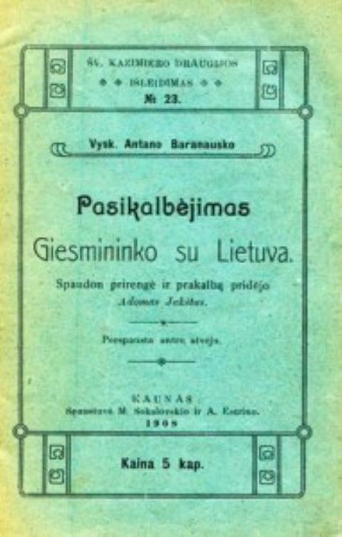 Pasikalbėjimas giesmininko su Lietuva.